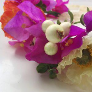 Moon in Libra Bougainvillea Poppy Flower Crown
