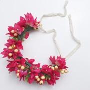 Moon in Aries Crown Bougainvillea Flower Crown