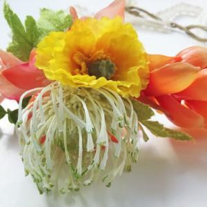 Moon in Leo Crown Crown Bougainvillea Ginger Protea Poppy Flower Crown