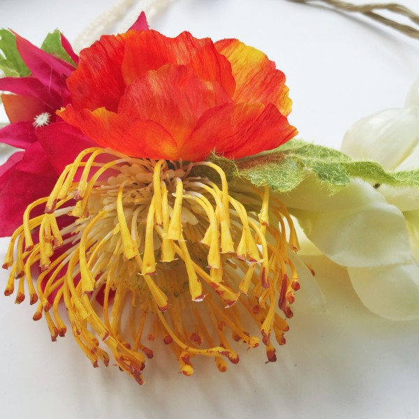 Moon in Pisces Crown Protea Poppy Bougainvillea Ginger Flower Crown